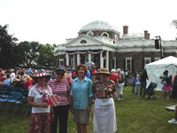 Shadwell members enjoying event at July 44, 2012 at Monticello